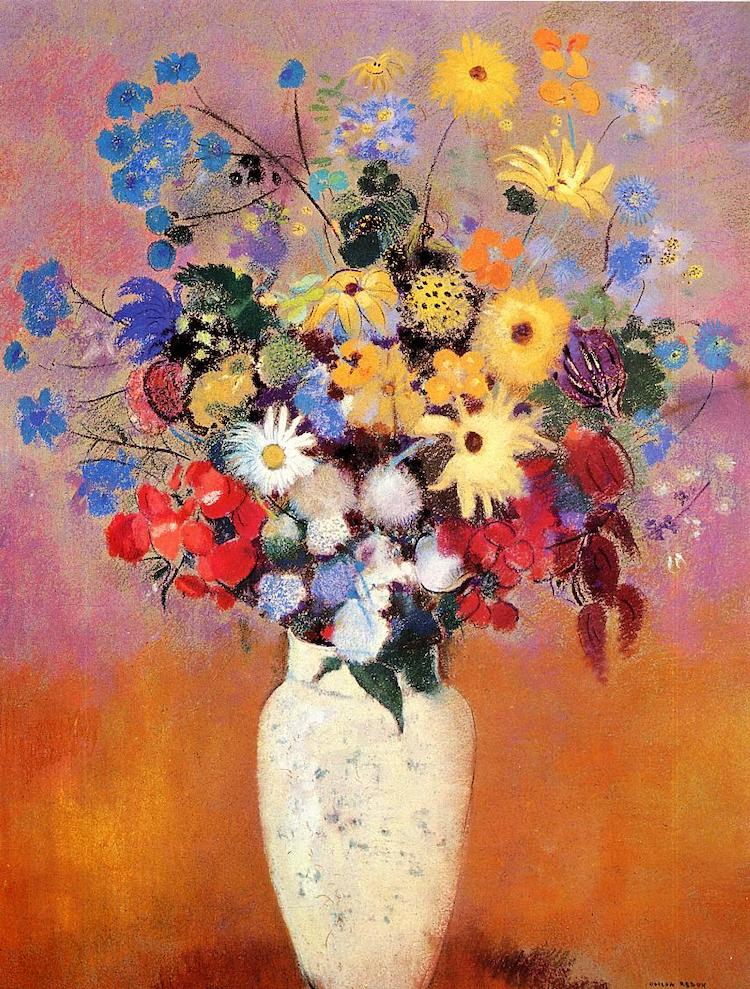 Realist Flower Painting by Odilon Redon & 12 Famous Flower Paintings from Monet to Mondrian
