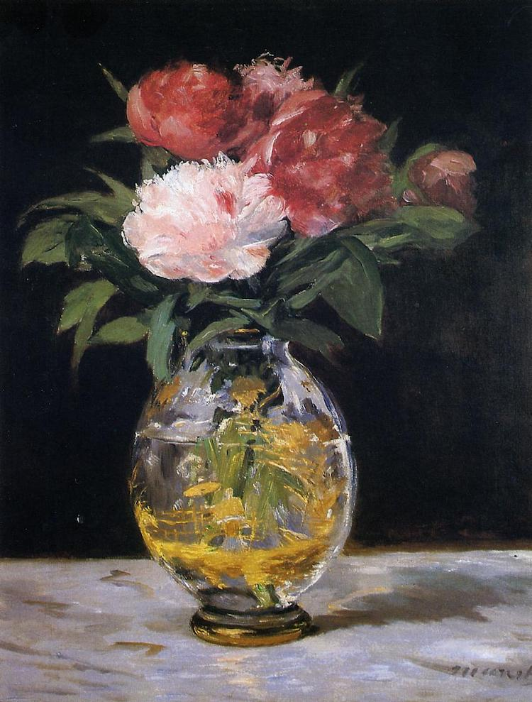Flower Painting by Manet
