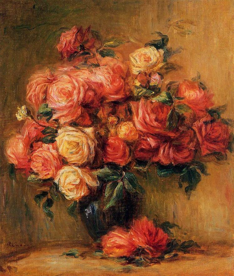 Still Life Painting of Flowers by Renoir