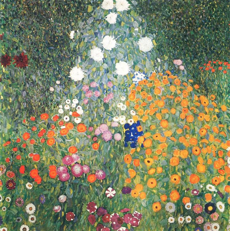 Flower Painting by Gustav Klimt