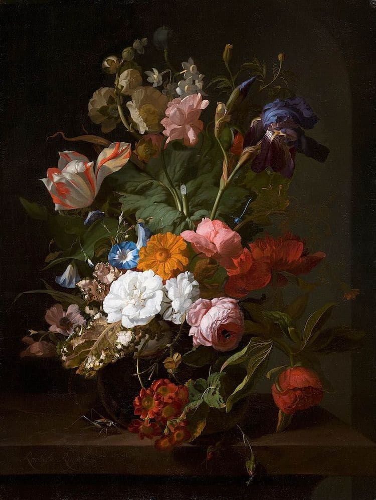 Still Life Painting by Rachel Ruysch