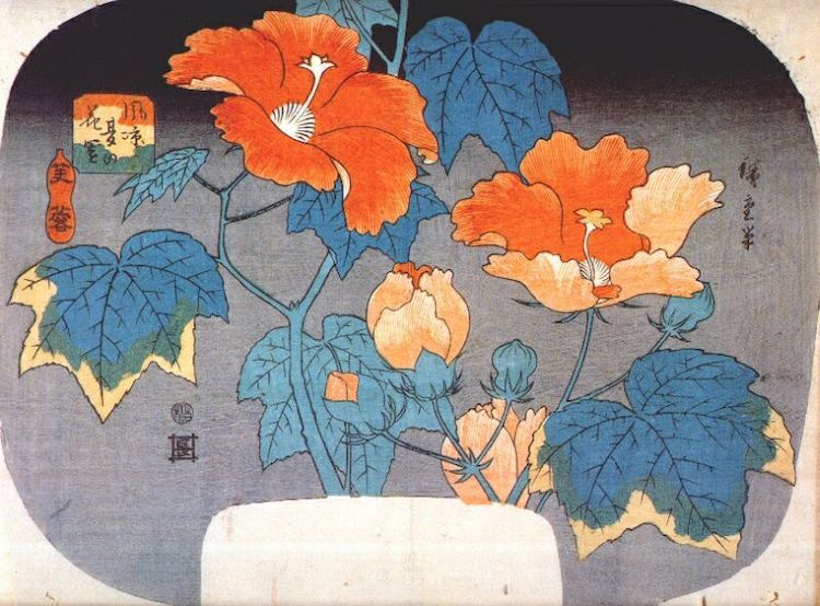 Flower Art by Hiroshige