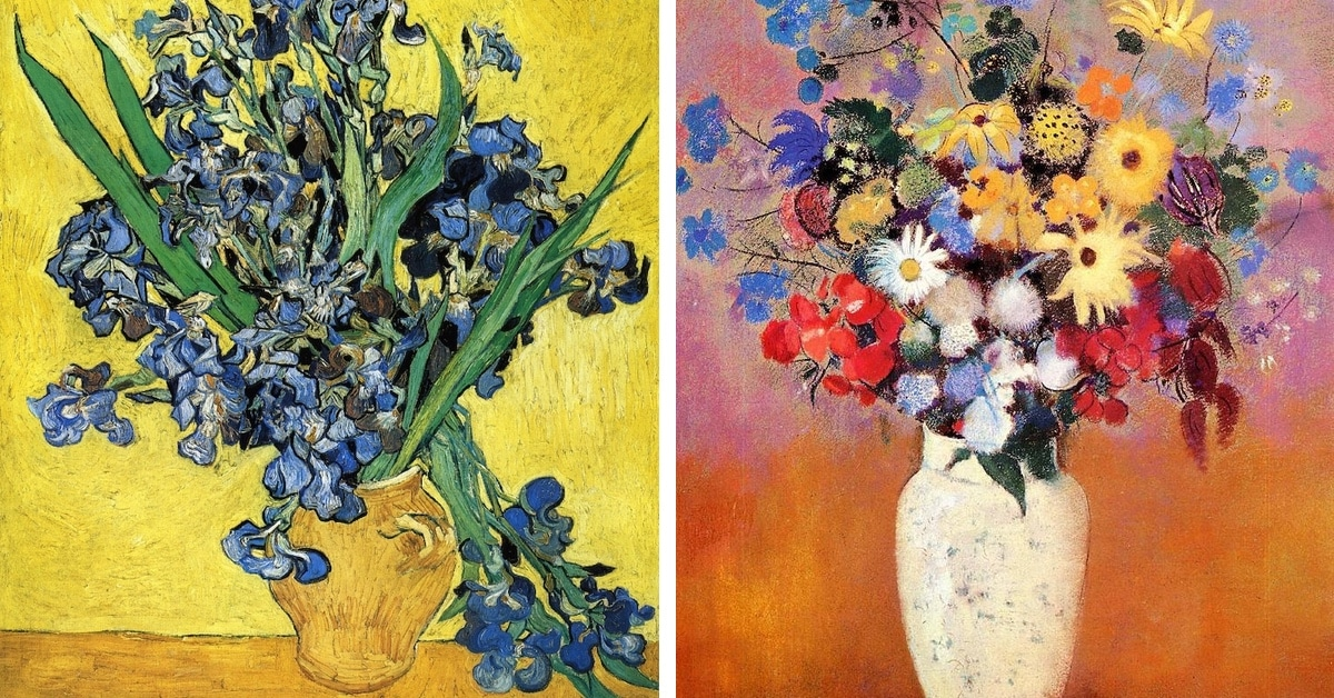 12 Famous Flower Paintings, from Monet to Mondrian