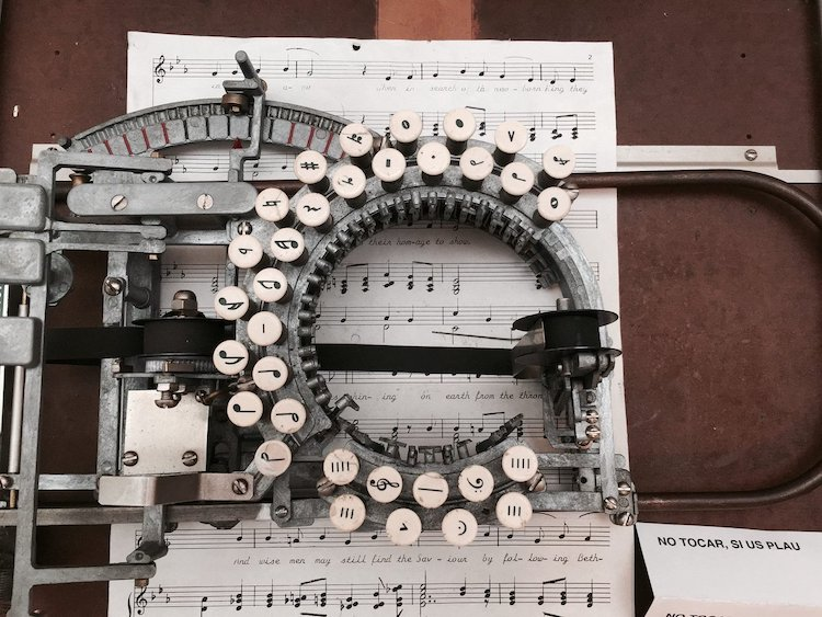 Keaton Music Typewriter