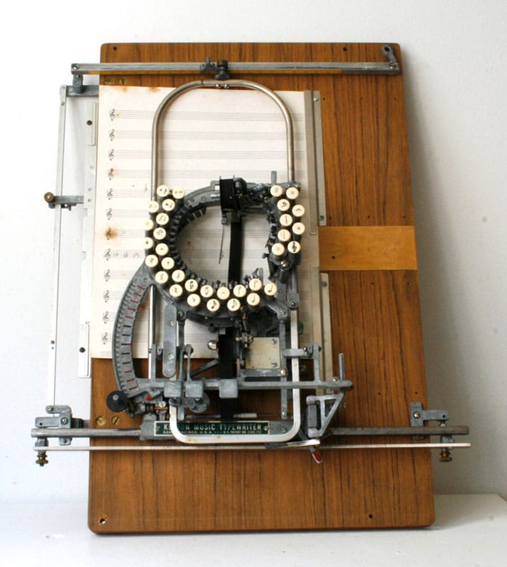 Keaton Music Typewriter Interesting Invention
