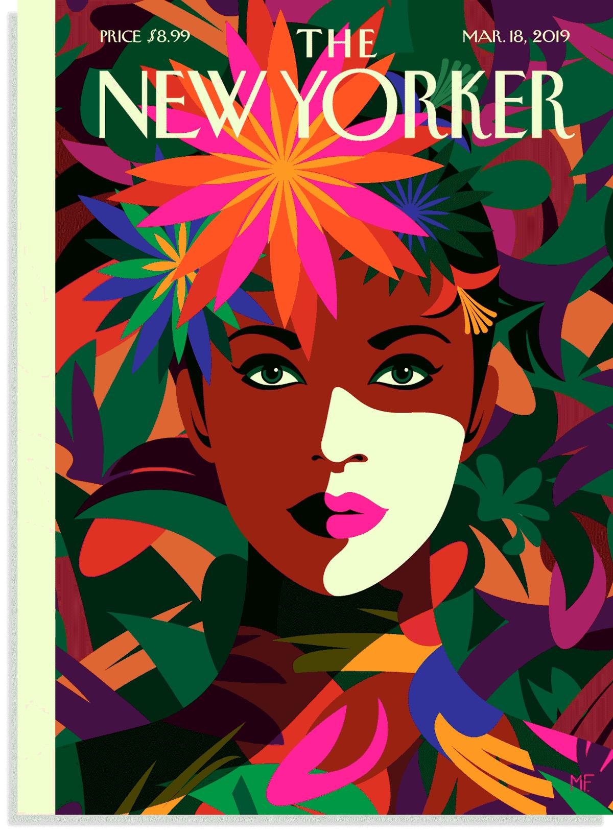 Frida Kahlo New Yorker Spring Style Issue Malika Favre New Yorker Gif