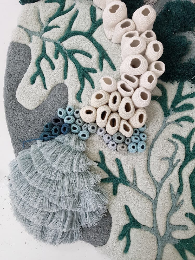 Ocean Inspired Textile Art Captures The Diversity of Coral