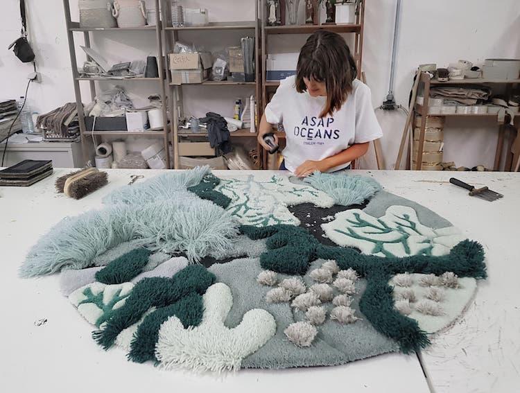 Ocean-Inspired Textile Art by Vanessa Barragao