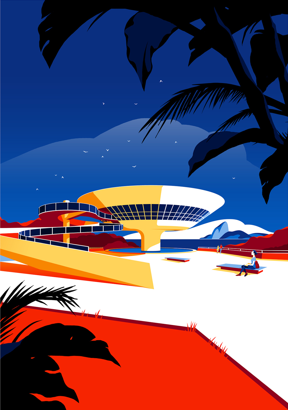 Illustration of the Niterói Contemporary Art Museum