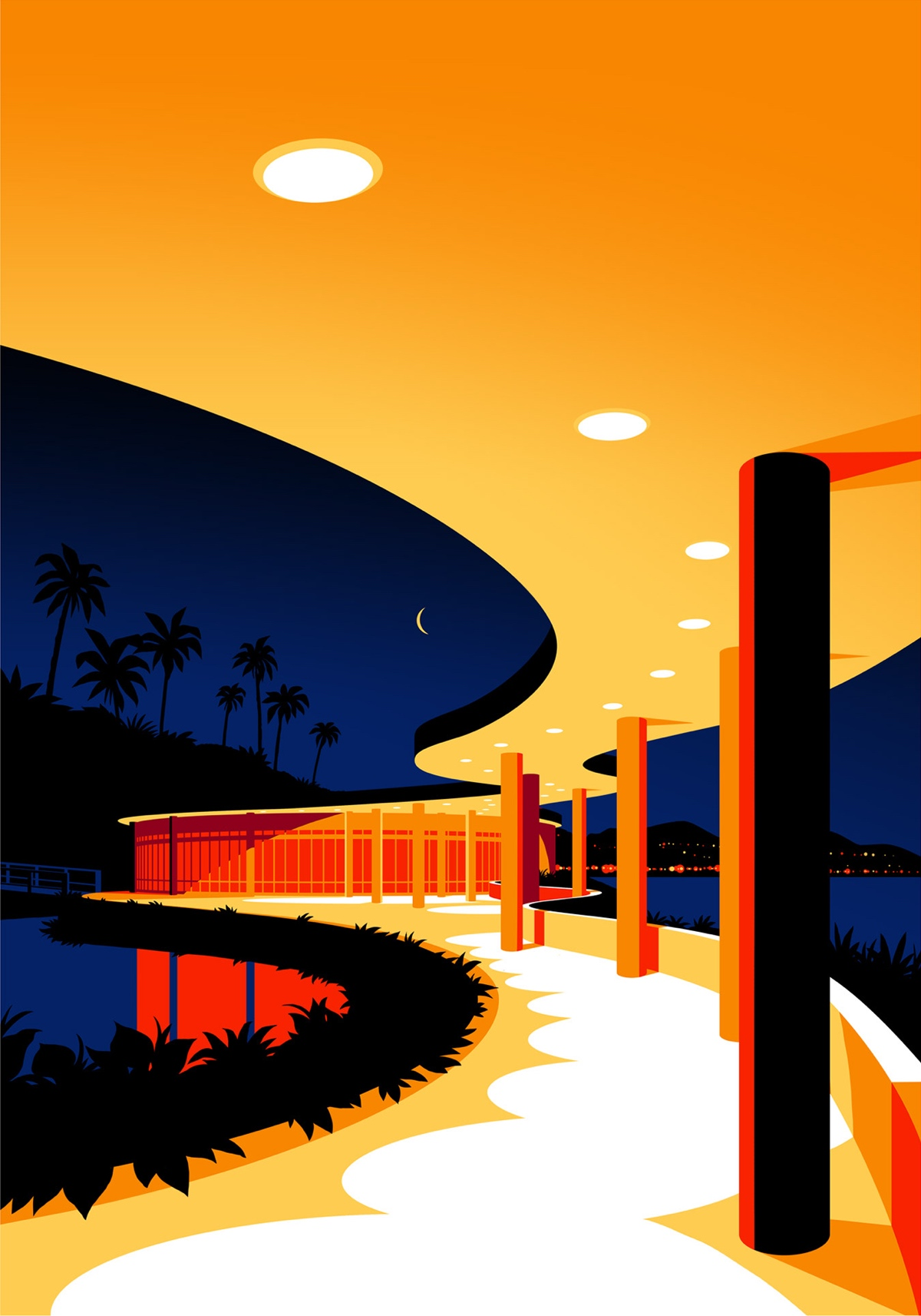 Architecture Illustration by Levente Szabo