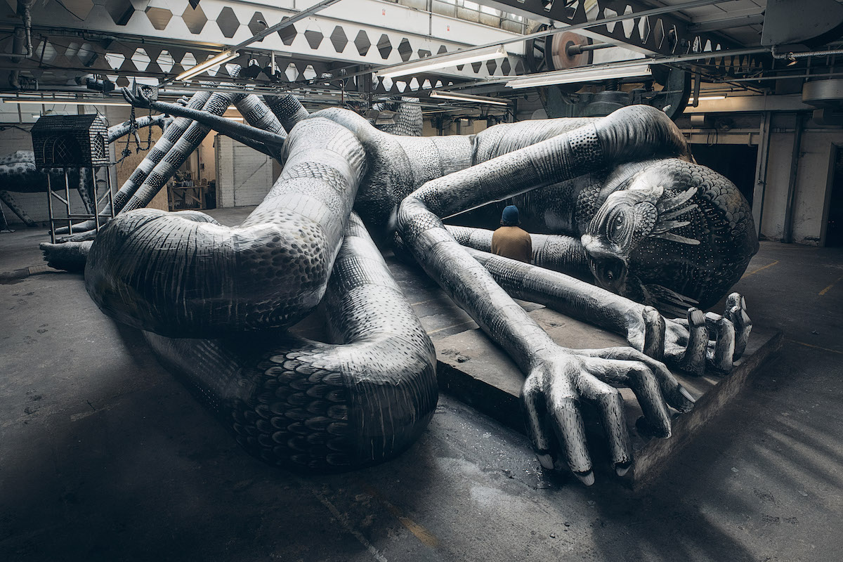Art Installation in Sheffield by Street Artist Phlegm