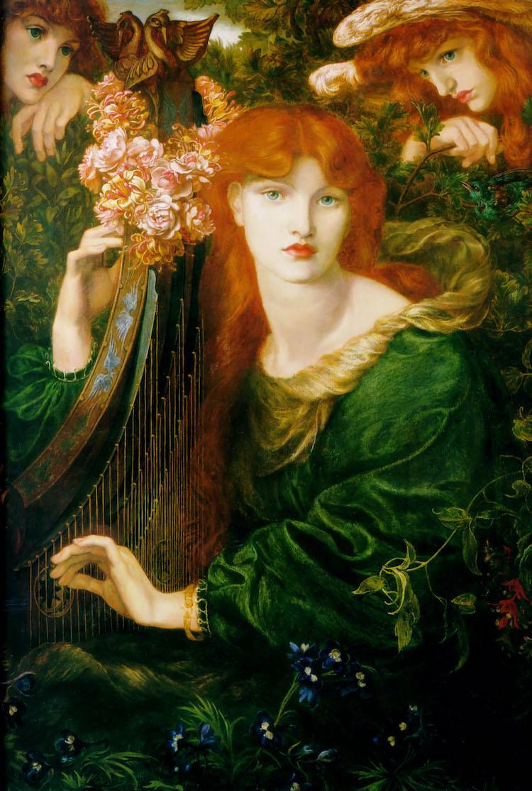 Pintura prerrafaelita de Dante Gabriel Rossetti