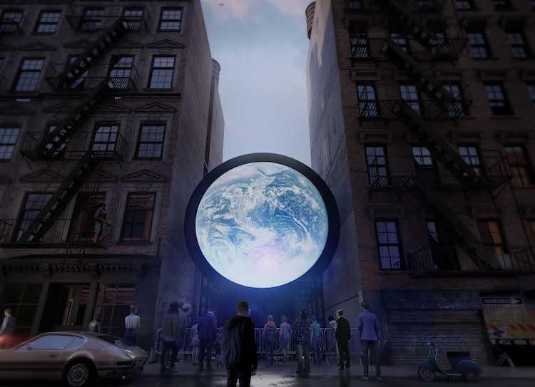 Public Art Blu Marble by Sebastian Errazuriz