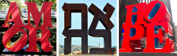 esculturas love Robert Indiana
