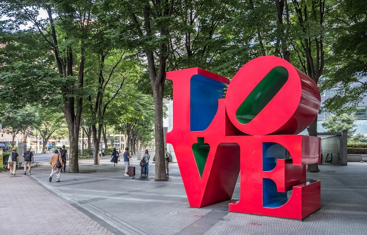 Image result for LOVE statue