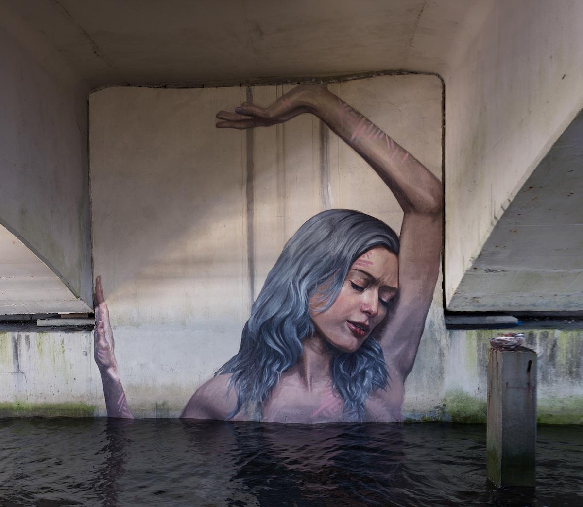 Hula - Sean Yoro - Environmental Street Art