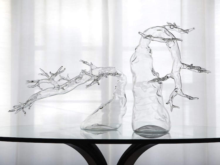 Blown Glass Sculptures Simone Crestani Blown Glass Trees Blown Glass Bonsai Blown Glass Animals