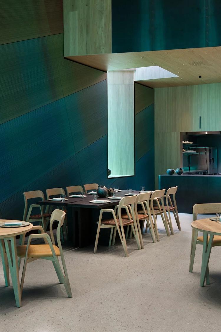 Interior of Underwater Restaurant in Norway