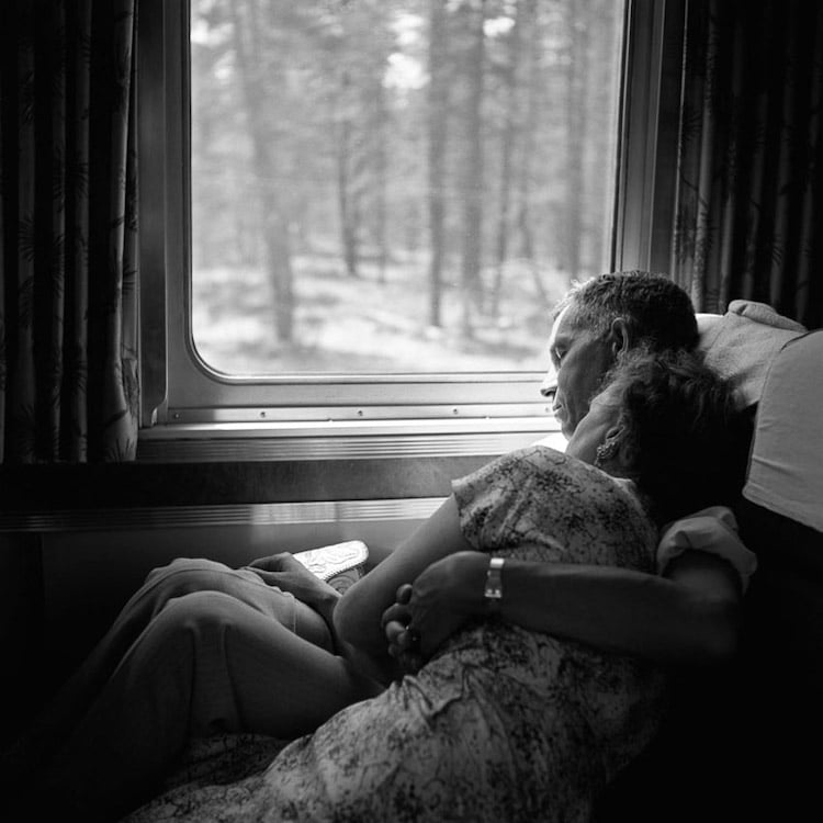 Vivian Maier Couple on a Train