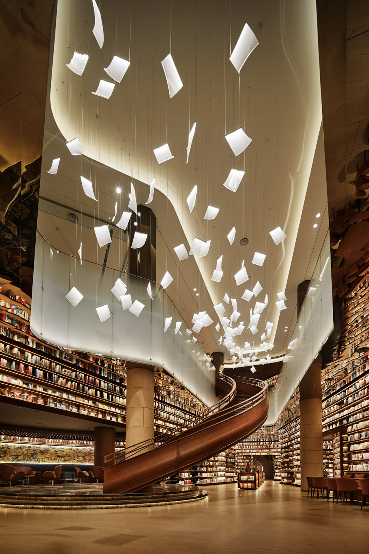 Interior Design of Bookstore in Xi'an by IKG