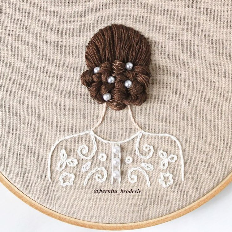 3D Embroidery Hairstyles by Bernita Broderie