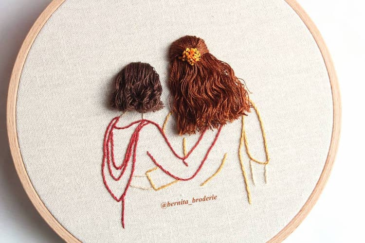 Clever 3d Embroidery Mimics All Sorts Of Creative Hairstyles