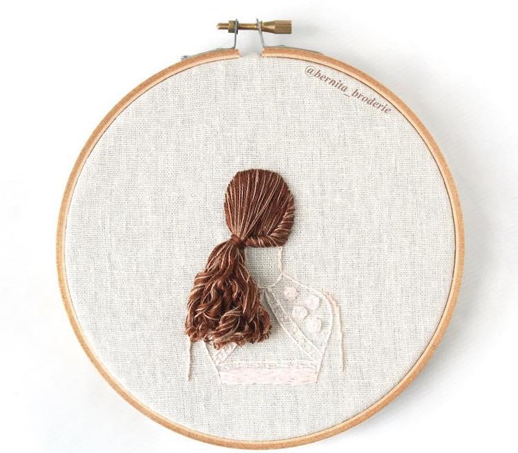 Pelo bordado tridimensional por Bernita Broderie