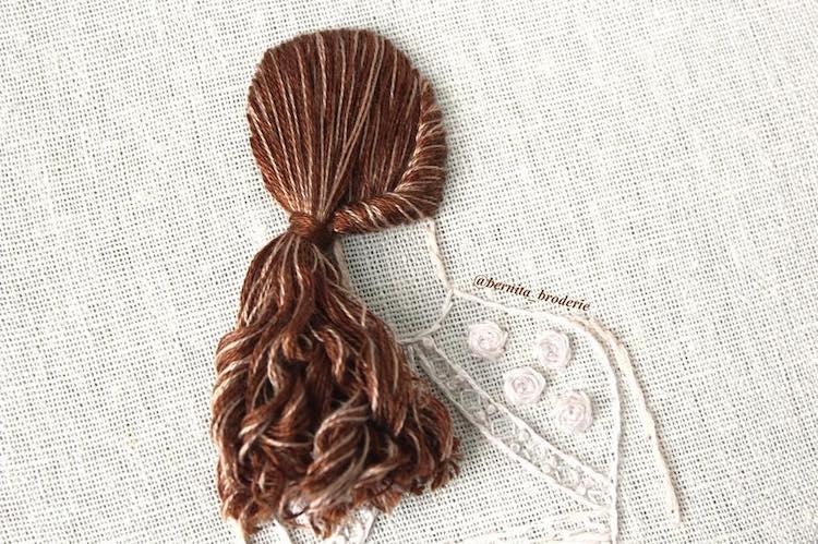 Peinados bordados por Bernita Broderie