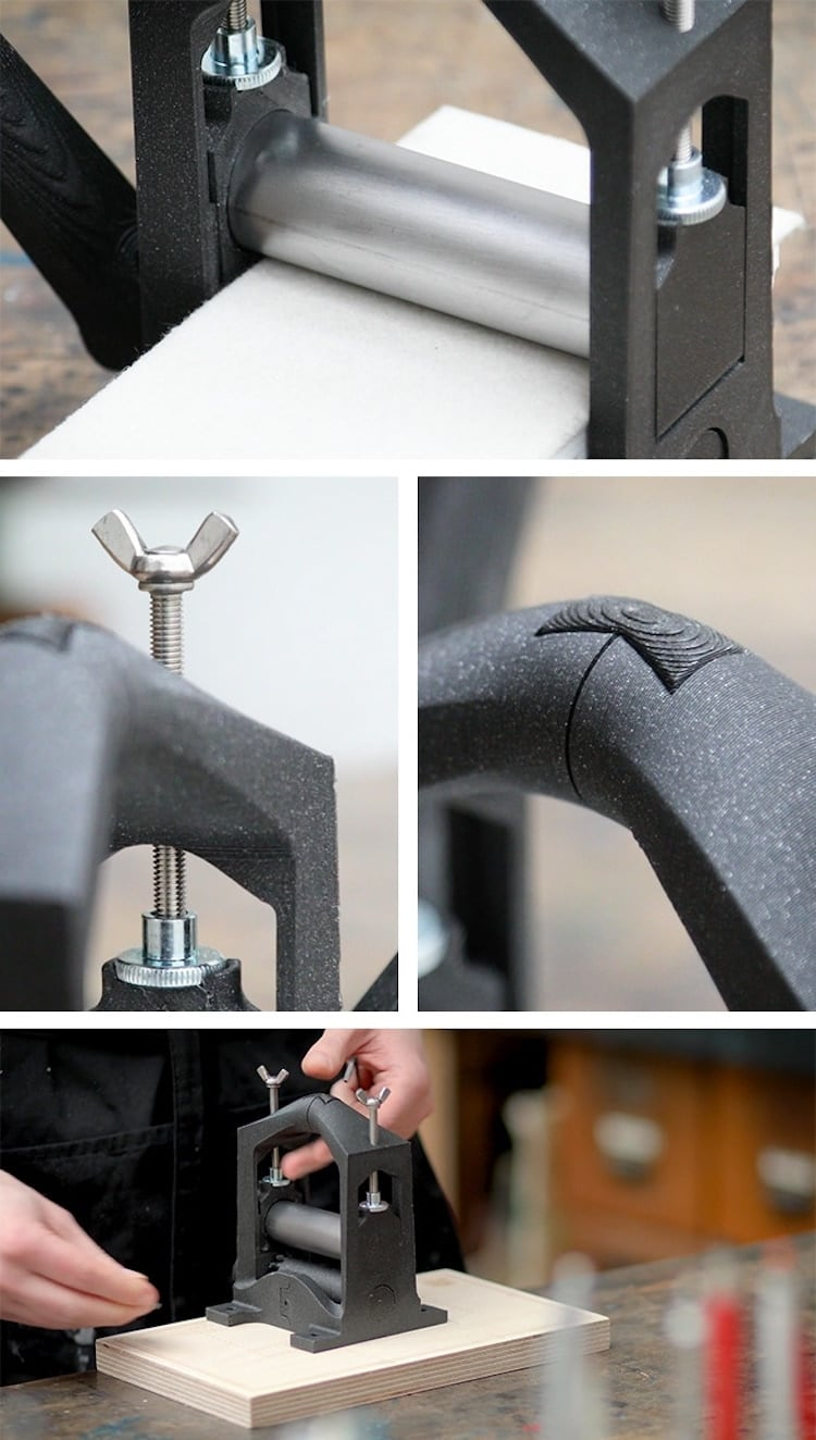 3D-Printed Printing Press by Martin Schneider