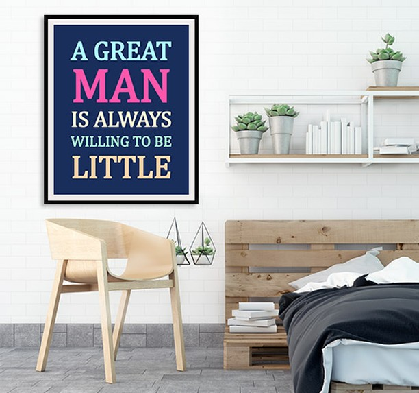 Personalized Wall Art with Inspirational Quote