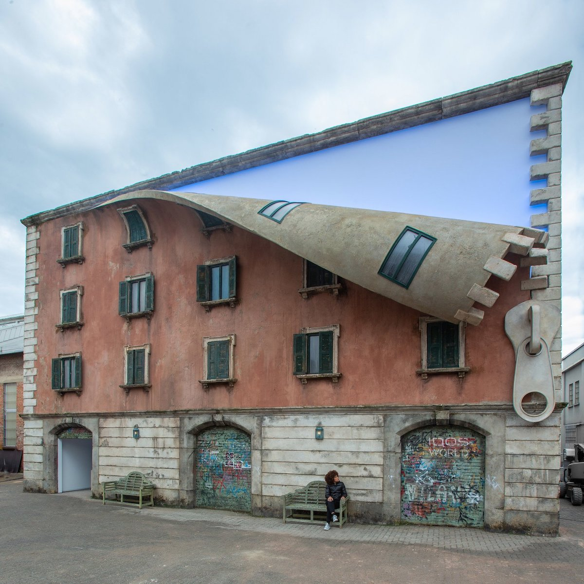 Alex Chinneck Sculpture in Milan