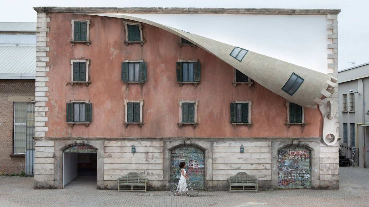 Alex Chinneck Installation in Milan