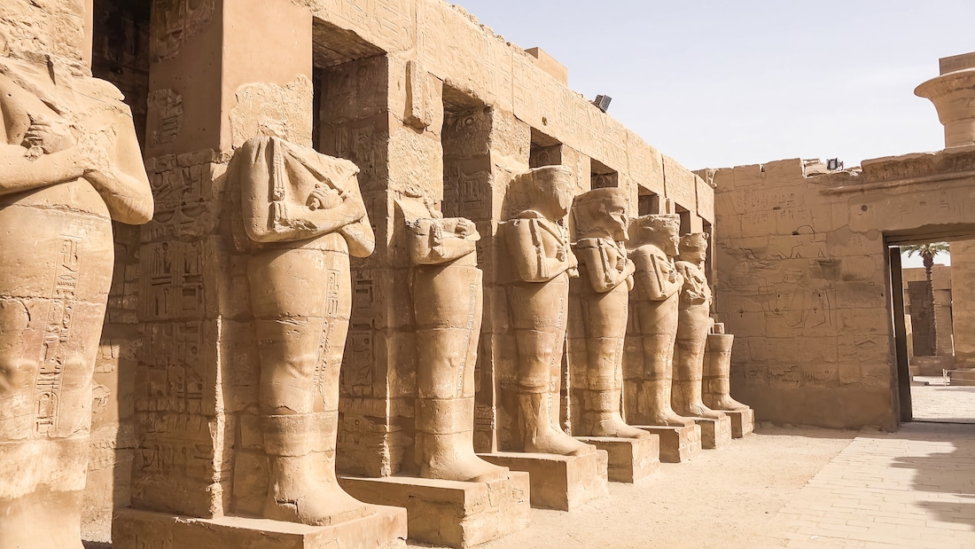 Egypitan Ruins Luxor Temple Ancient Egypt
