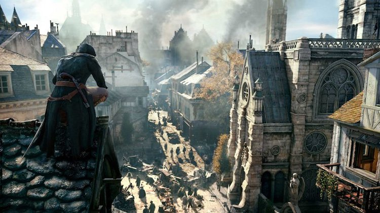 Notre Dame Rendering in Assassin's Creed Unity