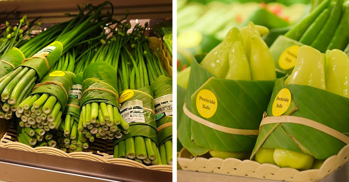 Image result for Grocery Chain Replaces Plastic Produce Packaging with Banana Leaves