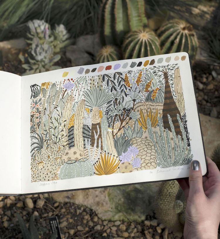 Clase de ilustración botánica por Sara Boccaccini Meadows