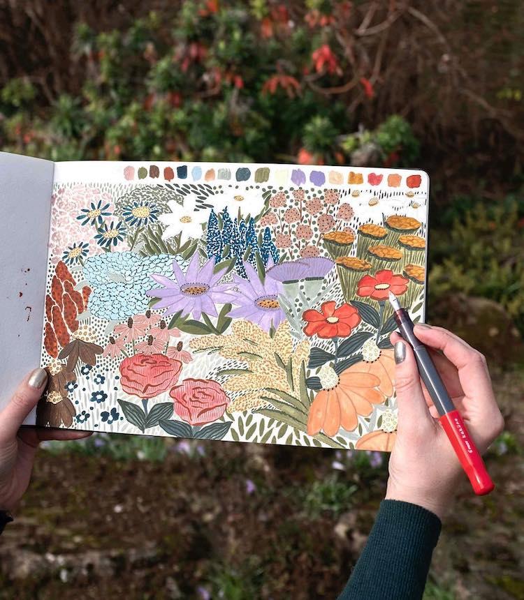 Clase de Skillshare de ilustración botánica por Sara Boccaccini Meadows