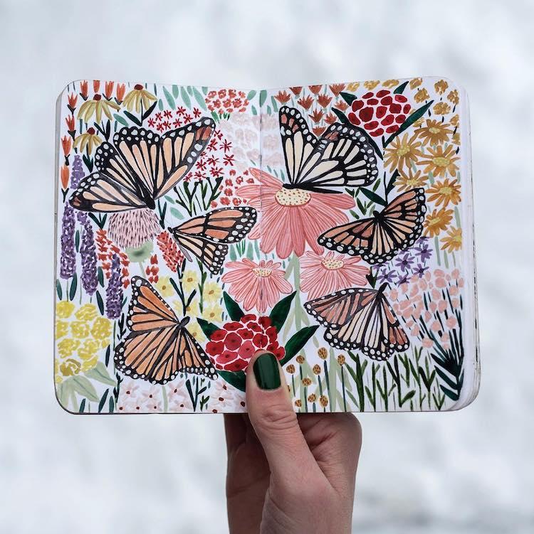 Clase en línea de ilustración botánica por Sara Boccaccini Meadows