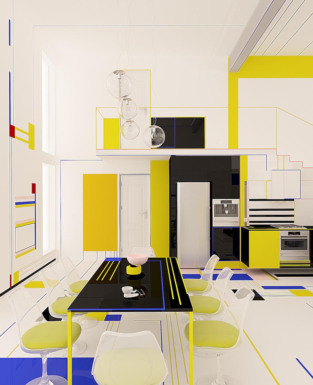 Brani Desi Mondrian Apartment De Stijl Apartment