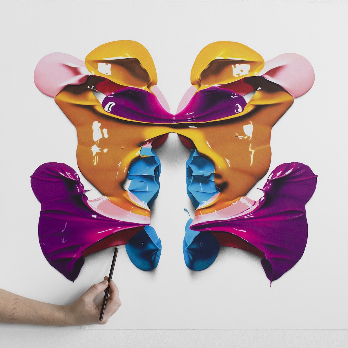Colored Pencil Drawings Rorschach Blots by Cj Hendry