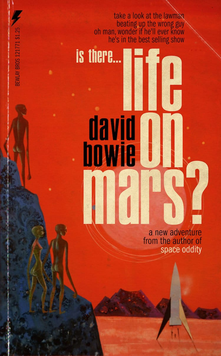 David Bowie Pulp Fiction Book Covers by Todd Alcott
