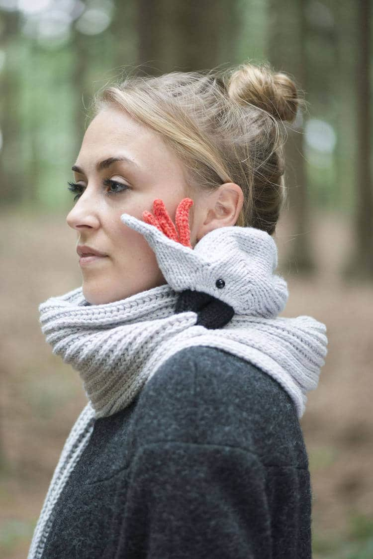 Bird Scarf Knitting Pattern