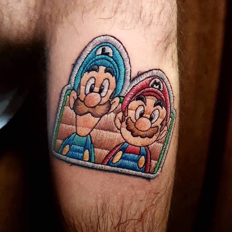 Pop Culture Patch Tattoos Look Like Real Badges Stitched