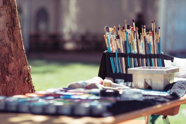 Materiales para pintar al aire libre