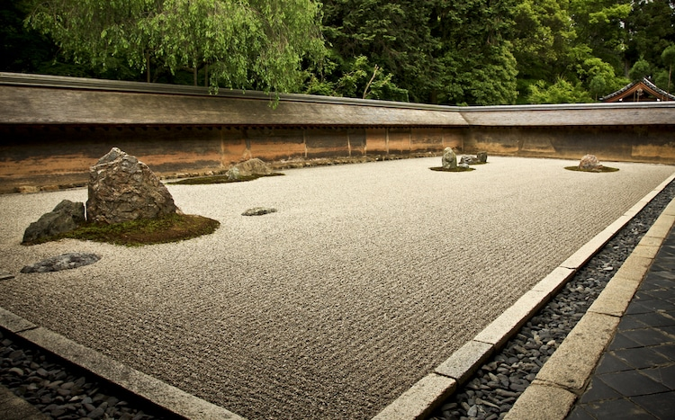 Famous Rock Garden in Kyoto