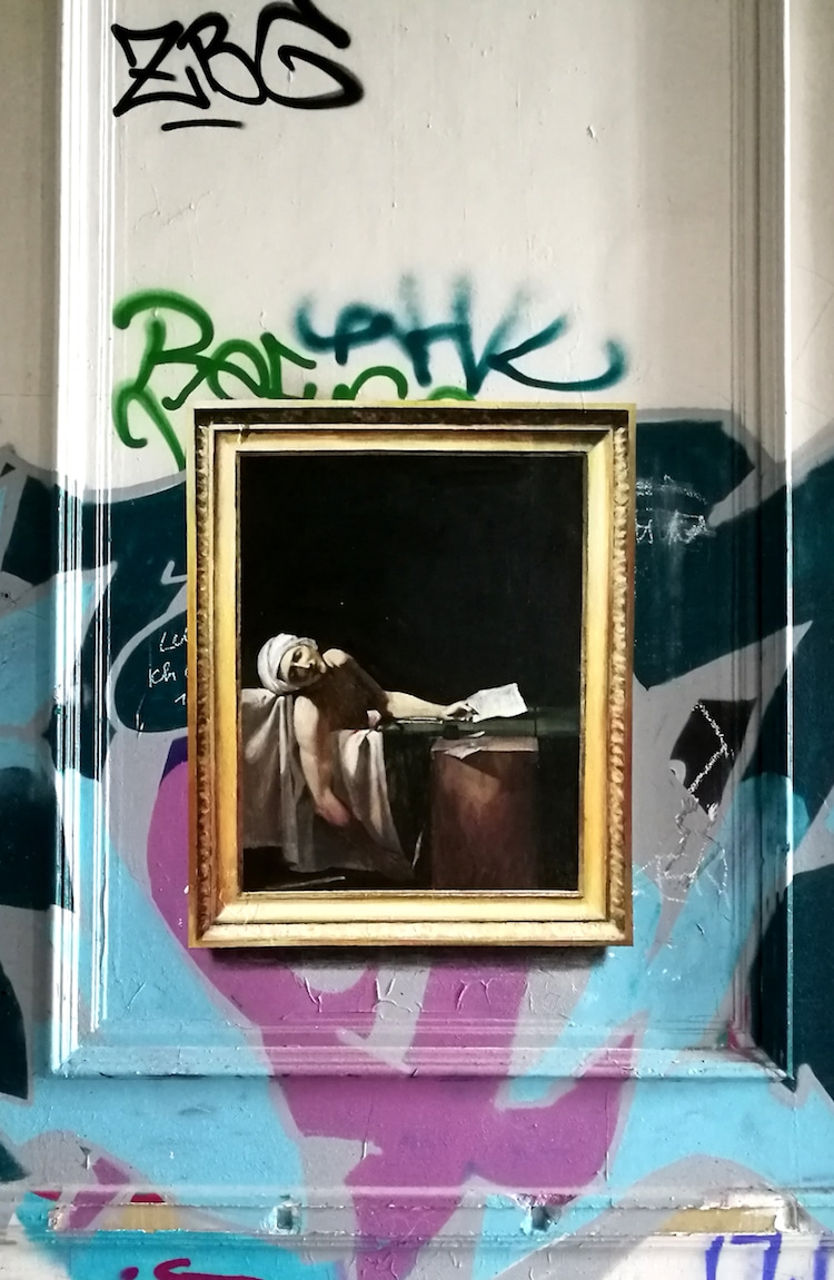 Famous Paintings Street Art by Julio Anaya Cabanding