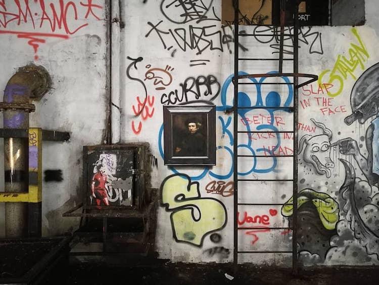 Pinturas famosas como grafiti por Julio Anaya Cabanding