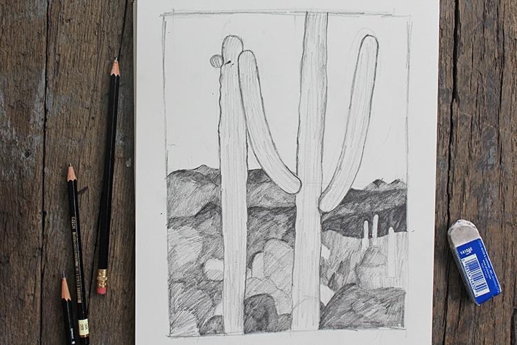 Cómo hacer dibujos de paisajes a lápiz