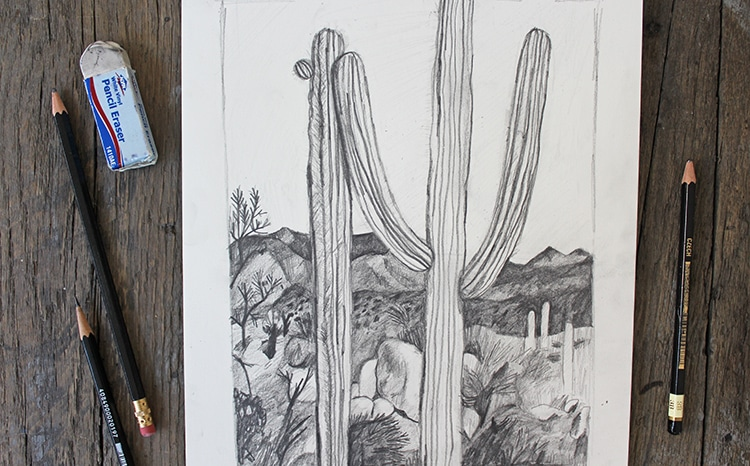 Easy Landscape Drawing