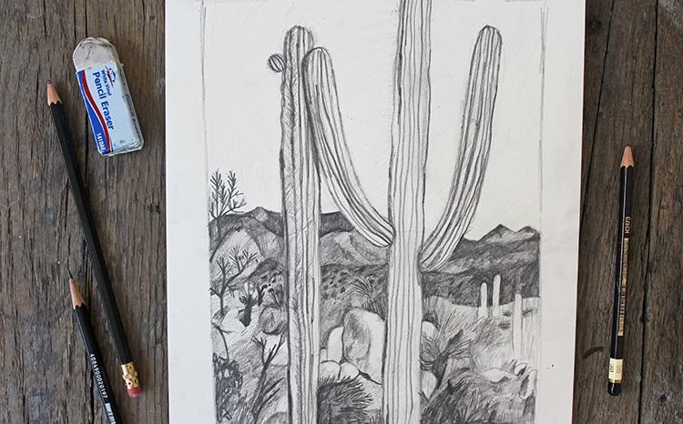 Dibujos de paisajes fáciles